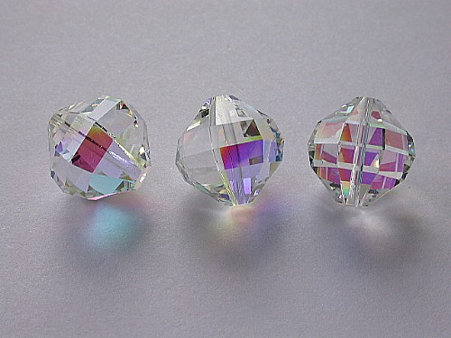 VINTAGE Swarovski Crystal Beads Art. 346 16mm Crystal AB 90ace26a7a45