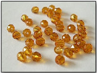 Swarovski 5000 Crystal Beads, 4 mm. Rounds Topaz