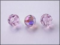 Swarovski 5000 Crystal Beads, 10 mm. Rounds Light Amethyst