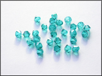Swarovski 5301 Crystal Beads, 4 mm. Bicones Blue Zircon