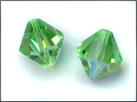VINTAGE Swarovski Crystal Beads Art. 364 14mm Peridot AB