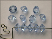 VINTAGE Swarovski Crystal Beads Art. 42 Lt Sapphire 8 mm