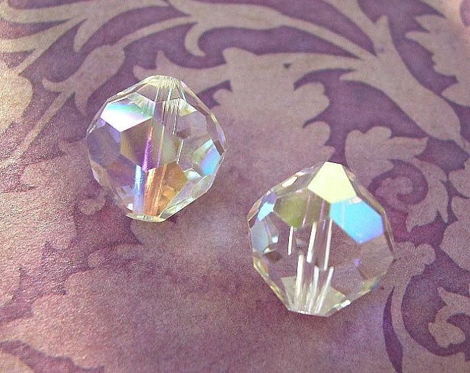 VINTAGE Swarovski Crystal Bead Art 5300 12mm Crystal AB