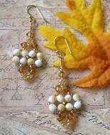 Beaded Dangle Earrings Indian Corn