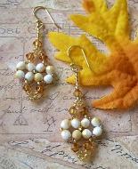 Beaded Dangle Earrings Indian Corn