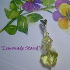 Handcrafted Pendant with Vintage Swarovski Jonquil Beads