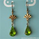 Olivine Drops Crystal Earrings
