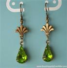 Olivine Drops Crystal Earrings