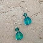 Sea Breeze Beaded Earrings Teal Blue