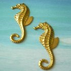 Vintage Brass Sea Horse Stampings