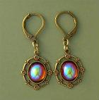 Vintage Swarovski Topaz AB Crystal Earrings