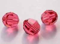 Swarovski 5000 Crystal Beads, 10 mm. Rounds Padparadscha Coral