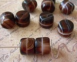 Vintage Czech Glass Beads Browns 6 Hot Fudge Sundae