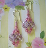 Beaded Dangle Earrings May Flowers
