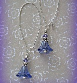 Beaded Dangle Earrings in Violet Purple