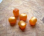 30 Mini Vintage Moonglow Lucite Beads Apricot Orange Twists