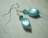 Aqua Ice Earrings with Vintage Lucite Beads in Teal Turquoise