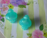 Vintage Moonglow Lucite Beads Aqua Turquoise Garden Lanterns