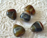 Vintage Czech Glass Candy Corn Beads Browns Blue 5