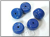 Vintage Lucite Beads Chubby Tires in Lapis Blue Color