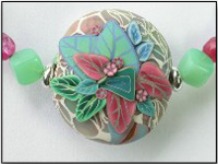 Polymer Clay Pendant - Tea Party
