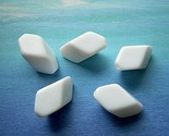 Vintage Lucite Beads White Chiclets - Very Cool Polygons 5