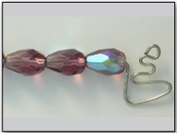 Vintage Czech Glass Bead Amethyst AB Teardrop