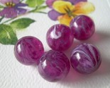 Grape Jelly Vintage Lucite Beads Purple Swirls 8
