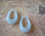 Vintage Lucite Hoop Beads Ice Blue - Doorknocker Style