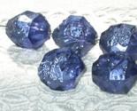 Indigo Violet Rock Crystals Vintage Lucite Beads Purple 5