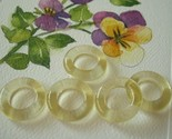 Vintage Lemon Yellow Glass Hoops Donuts Rings 6 Beads