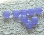 Lilac Clouds Vintage Lucite Beads Periwinkle Purple 8