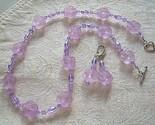 Lilacs in Bloom Vintage Lucite Necklace Set Demi Parure