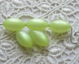 Vintage Moonglow Lucite Beads Yellow Ovals - Limon