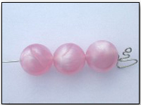 Vintage Lucite Beads in Luminous Cotton Candy Pink