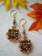Au Chocolat Beaded Earrings