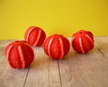 Vintage Lucite Pumpkin Beads Autumn Halloween 4