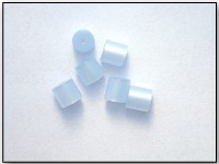 Vintage Moonglow Lucite Beads TINY Tubes in Baby Blue