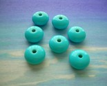 Turquoise Treats Vintage Lucite Beads - Plump Rondelles