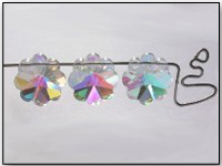 VINTAGE Swarovski Crystal Beads Art. 5110 14mm Margarita Crystal AB