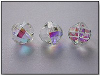 VINTAGE Swarovski Crystal Bead Art. 346 16mm Crystal AB